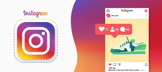 Instagram vecteur d'image et d'influence